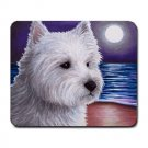Mousepad Mat pad from art painting Dog 81 Westie West Highland