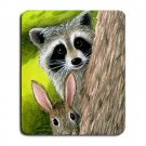 Mousepad Mat pad from art painting Hare 50 Rabbit Raccoon