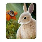 Mousepad Mat pad from art painting Hare 55 Rabbit Flower Butterfly