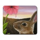 Mousepad Mat pad from art painting Hare 58 Rabbit Flower