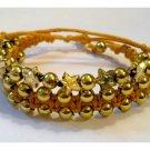 Gold Cord Bracelet Set