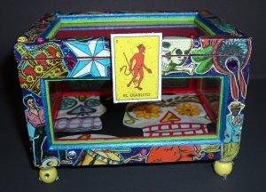 Mexican Loteria Box - El Diablito - The Devil
