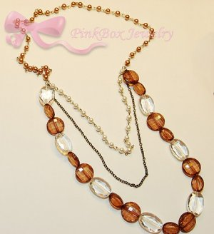 Vanilla and Chocolate Necklace