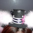 Mini Lolita Hat with Ears - Sailor (White feathers)