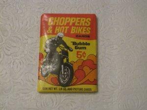 1972 Donruss CHOPPERS & HOT BIKES wax pack