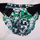 RA362 HOT MEN Bikini Briefs Swimwear Silver Green