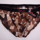 N6101 HOT SEXY MEN STRING BIKINI CAMO PRINTED Camo Brown