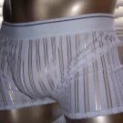RB135 HOT MEN BOXER BRIEF Contoured Pouch Striped White