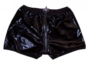 RF978 HOT SEXY MEN HIPSTER BOXER BRIEF Pleather Zipper