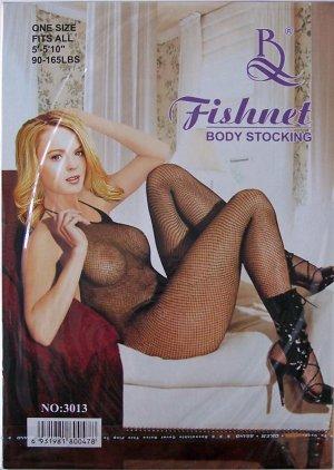 W3013 SEXY WOMEN FISHNET BODY STOCKING Black