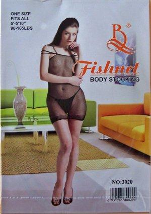 W3020 SEXY WOMEN FISHNET BODY TOP Black