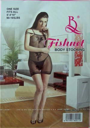 W3020A SEXY WOMEN FISHNET BODY TOP Black