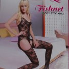 W3036 SEXY WOMEN FISHNET LACE BODY STOCKING Black