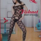 W3040 SEXY WOMEN FISHNET LACE BODY STOCKING Black
