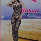 W3039 SEXY WOMEN FISHNET LACE BODY STOCKING DANCEWEAR Black
