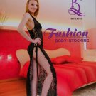 W3045 SEXY WOMEN FISHNET LACE DRESS DANCEWEAR Black