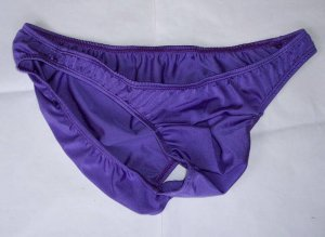 K1509 HOT SEXY MEN BIKINI PLEATED CONTOUR POUCH M Purple