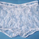 K122 HOT MEN BOXER BRIEF Contoured Pouch Floral Lace white