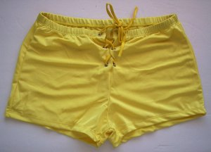 KZ345 HOT SEXY MENs BOXER BRIEFS TRUNKs LaceUp Front YELLOW