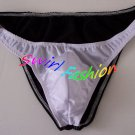 K318B HOT SEXT MEN RIO BACK SWIM BIKINI SKIMPY POUCH White+Black