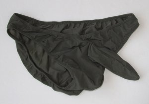 K356G Hot Mens Sexy Bikini Contoured Pouch Sleeve Smooth Silky Tricot Dk.Olive