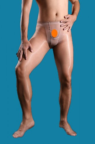 R72 Hot Mens Stocking Body Tights w/open Pantyhose nude