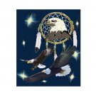American Bald Eagle Indian Dream Catcher Queen Mink Style Blanket