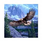 Flying American Eagle Bird Mountains Trees Colorful Queen Mink Style Blanket