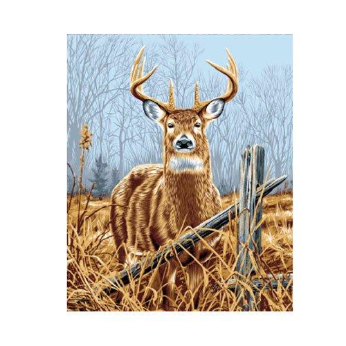 Large Antlers Buck Deer Nature Blue Brown Colorful Queen Mink Style Blanket
