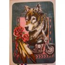 Wolf Motorcycle Roses Queen Mink Style Blanket Wild Animal Flower Bike Cover