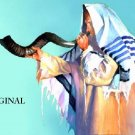 Rabbi w/ Shofar Talit Cross Stitch Pat Jewish Judaica ETP