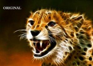 Cheetah Fire Cross Stitch Pattern Cats ETP Feline