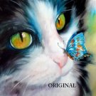 Butterfly Cat Cross Stitch Pattern Feline ETP