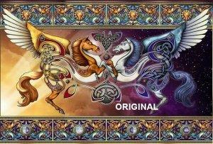 Celtic Winged Horses Cross Stitch Pattern ETP