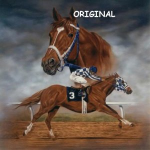 Secretariat Portrait Cross Stitch Pattern Race Horses ETP