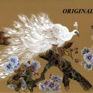 Oriental White Peacock Cross Stitch Pattern Birds ETP