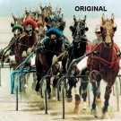 Standardbred Harness Race Cross Stitch Pattern Horses ETP