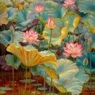 Lotus Blossoms Cross Stitch Pattern Flowers ETP