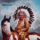 Indian on Horse Pinto Cross Stitch Pattern Native American ETP