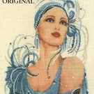 Art Deco Flapper Cross Stitch Pattern Roaring 20's ETP
