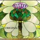 Stained Glass Look Artichoke Cross Stitch Pattern ETP