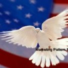 Dove & Flag Cross Stitch Pattern Patriotic ETP