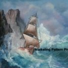 Storm Tossed Ship Cross Stitch Pattern Marine ETP