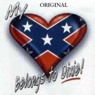 My Heart Belongs to Dixie! Cross Stitch Pattern Rebel Flag ETP