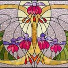 Art Deco Fuschia Cross Stitch Pattern Stained Glass TBB ETP