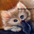Face to Face Cross Stitch Pattern Cats Mouse ETP