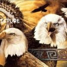 Indian Eagle Motif Cross Stitch Pattern Native American ETP