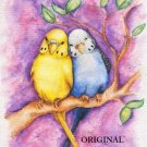 Fluffy Budgies Cross Stitch Pattern Parakeet Birds ETP
