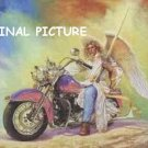 Motorcycle Angel Cross Stitch Pattern Fantasy