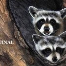 2 Racoons Cross Stitch Pattern ETP